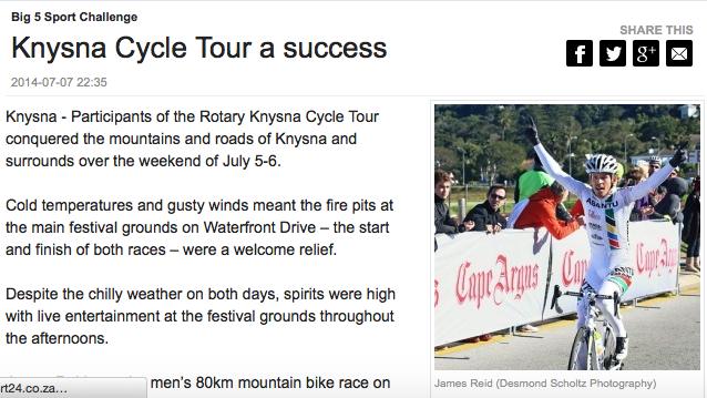 Knysna Cycle Tour a Success