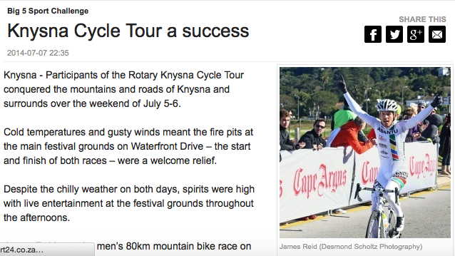 Knysna Cycle Tour a Success