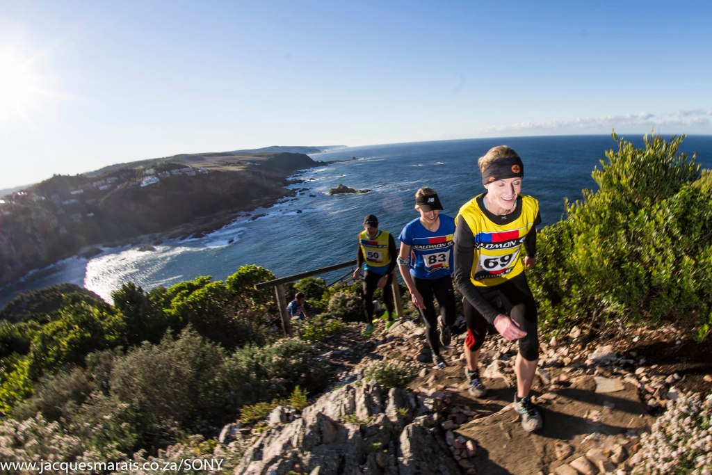 Trail Runners take part in the KNYSNA Oyster Festival 2014  BIG 5 Multi-Sport Event on the Garden Route, in Knysna, Western Province, South Africa, RSA